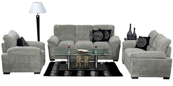 Evok Fabric Sofa Set In Grey Colour By Home City