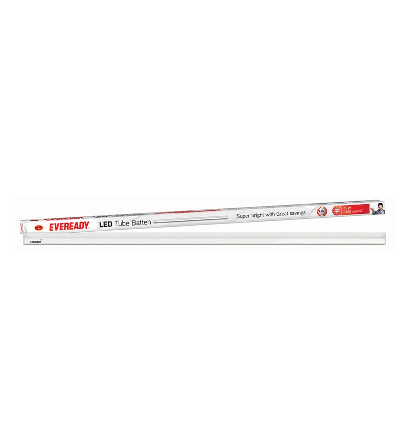 Eveready 6500K 100 Lumens 4 Feet 18 Watt Cool Day Light LED Tube Light Batten