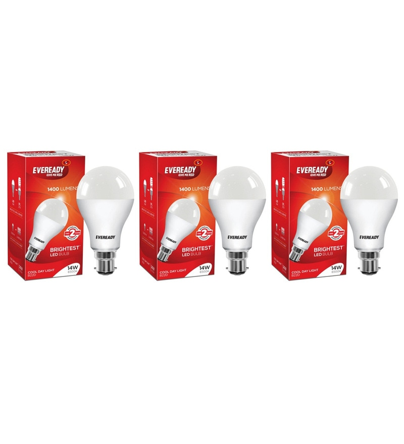 Eveready LED Bulb Combo 14W - 6500K Pack of 3