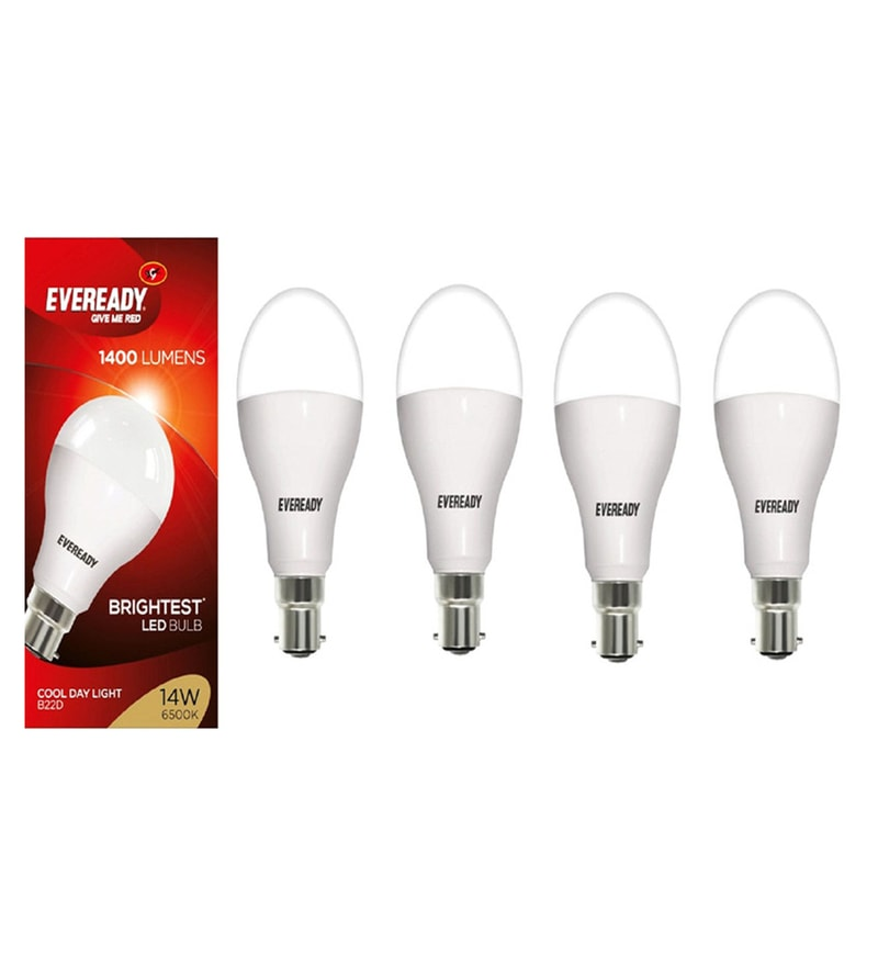 Eveready 6500K Cool White 14-Watt Led Bulbs - Set of 4