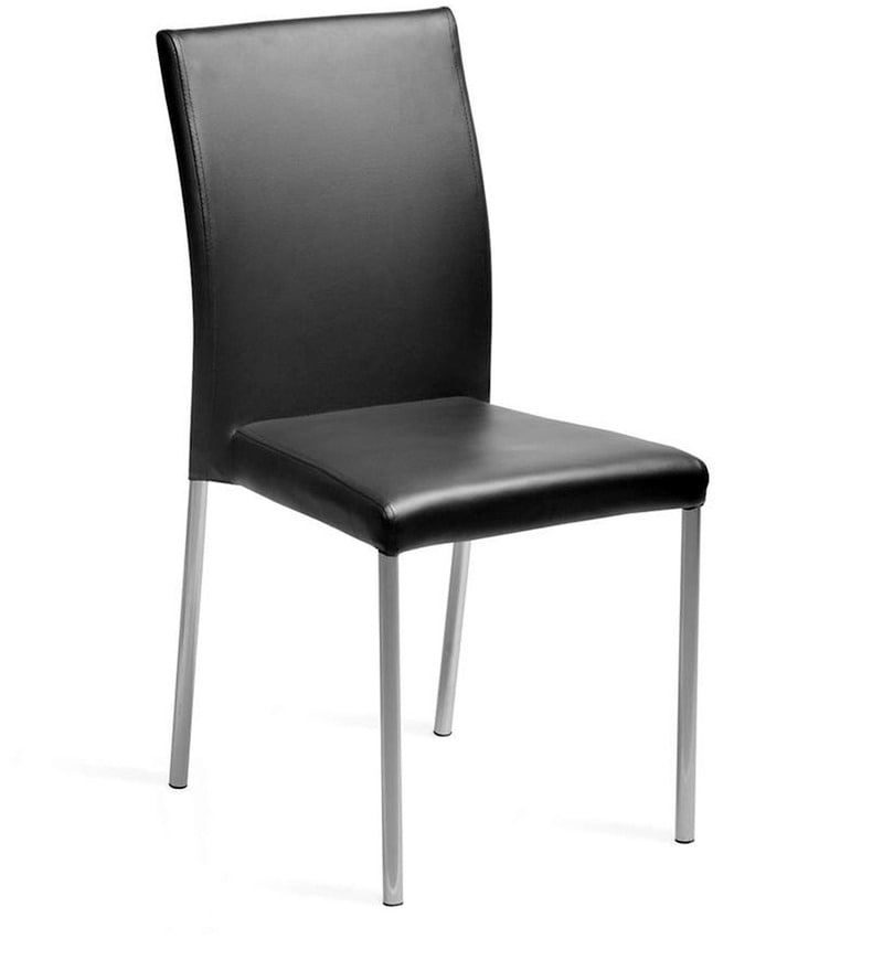 buy miracle delux dining chair set of two in black colour by cello