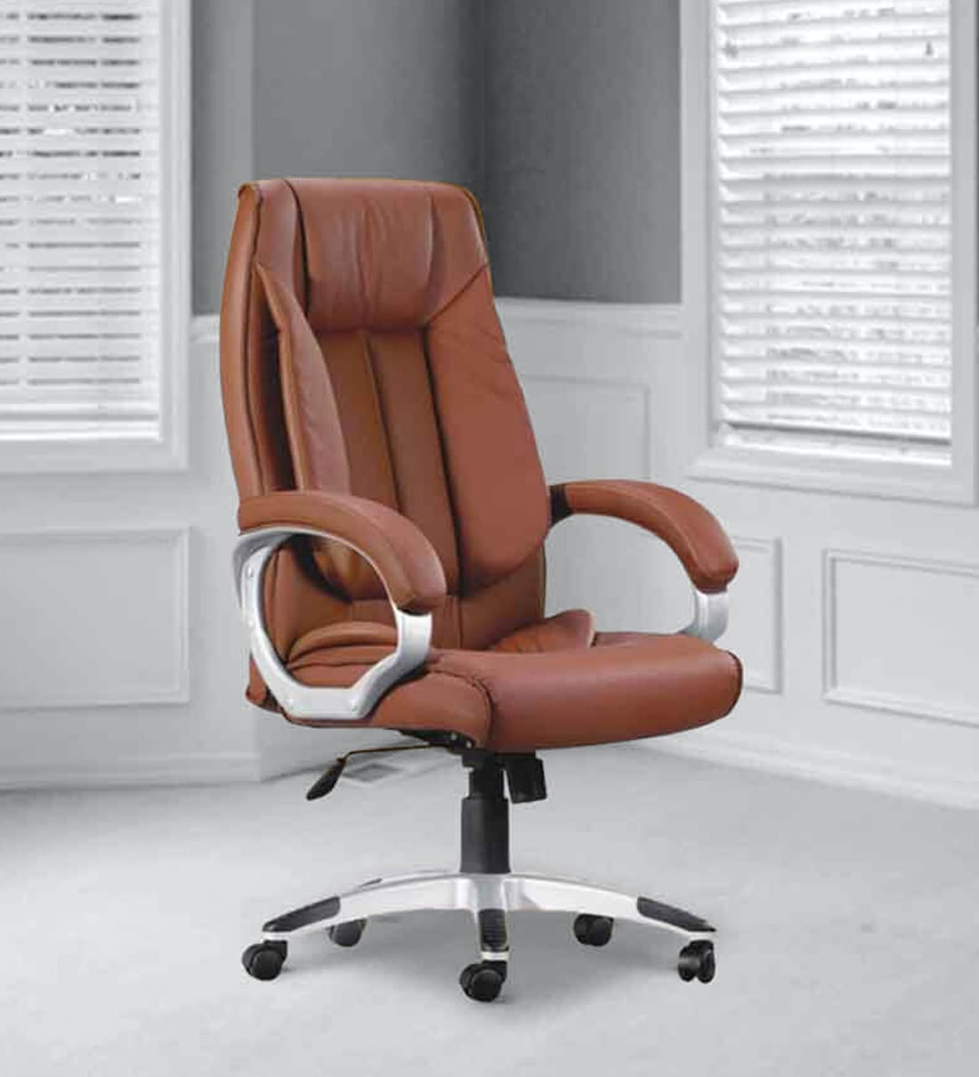 Buy Executive Chair In Brown Colour By Adiko Systems