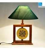 Green Fabric Table Lamp