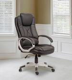 Plush Executive Chair in Black Leatherette
