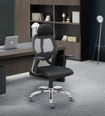 Executive High Back Chair in Black Colour