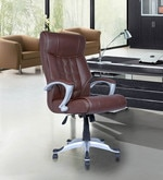 Executive High Back Chair in Brown Colour