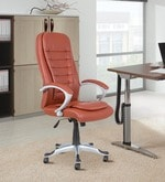 Executive High Back Chair in Tan Brown Colour