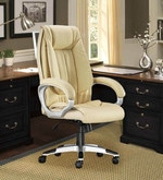 Executive High Back Office Chair in Cream Colour