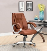 Executive Medium Back Office Chair in Brown Colour