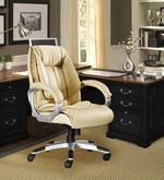 Executive Medium Back Office Chair in Cream Colour