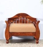 Exeter Single Seater Sofa in Honey Oak Finish