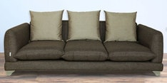 Monterio  Three Seater Sofa with Cushions in Dark Grey Colour