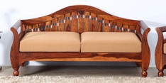 Exeter Two Seater Sofa in Honey Oak Finish