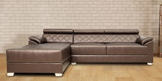 Exotica RHS Sectional Sofa with Lounger in Designer Leatherette Upholstery