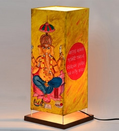 ExclusiveLane Yellow Polyvinyl Table Lamp