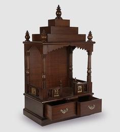 Superior Walnut Teak Wood Temple Part 14