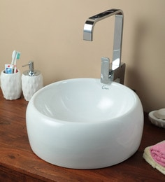 Exor 3043 Ceramic Round Table Top Wash Basin