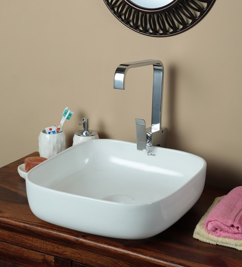 Exor 3080 Ceramic Square Table Top Wash Basin