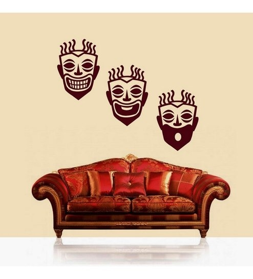 Buy Creative Width Expressions Maroon Vinyl Wall Sticker & Decal ...