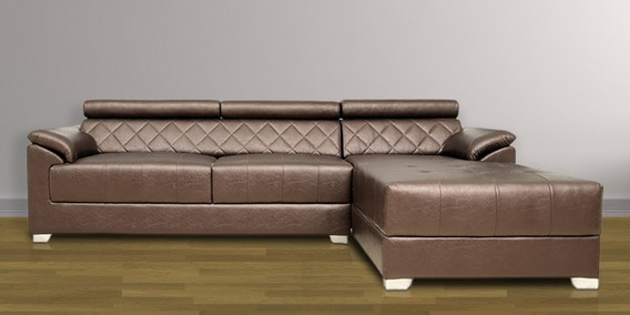 Exotica Lounger Sectional Sofa With Lhs In Designer Leatherette Upholstery By Star India