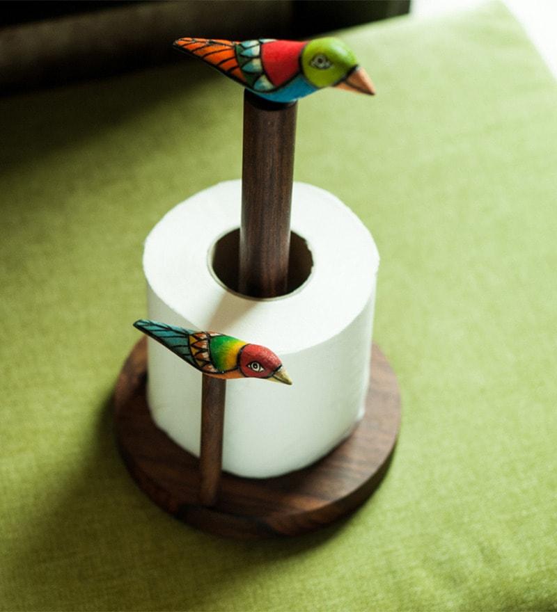 ExclusiveLane Purple Wood Bird 4.8x2.8x4.1 INCH Napkin Holder - Set of 5