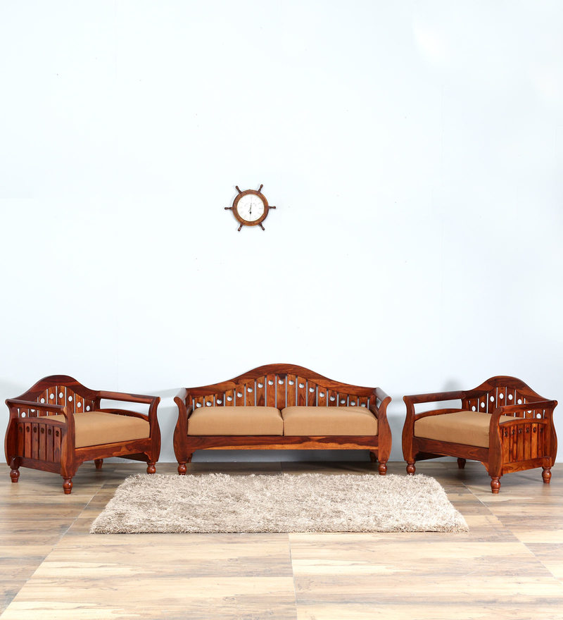 Buy Exeter Single Seater Sofa in Honey Oak Finish by Amberville ...
