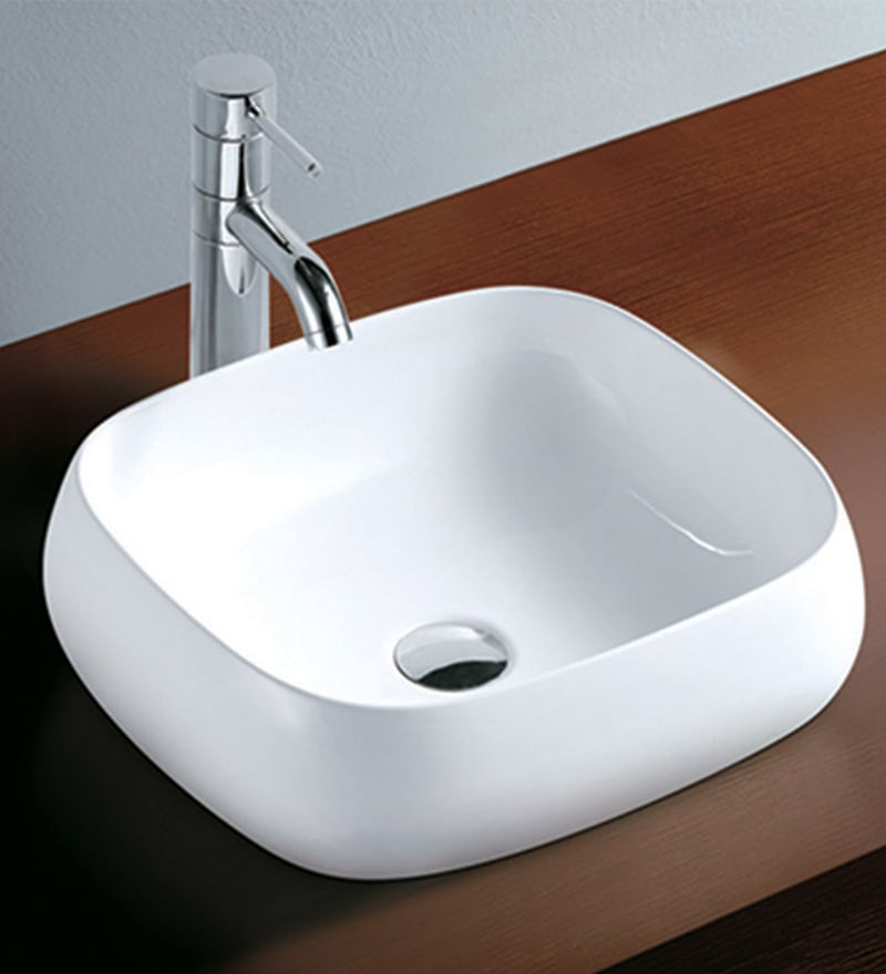 Exor White Ceramic Wash Basin (Model: 1049)