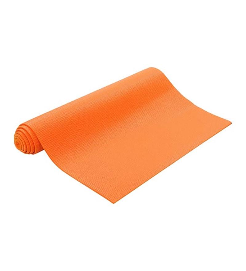 Orange PVC 71 x 23 Inch Premium Yoga Mat by Exporthub