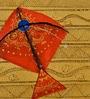 Orange & Gold Polyvinyl & Terracotta Kite Potli Lamp by ExclusiveLane