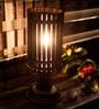 Multicolour Polyvinyl & Mango Wood Lamp by ExclusiveLane