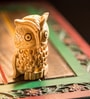 Exclusivelane Brown Wood Handmade Carved Owl Showpiece