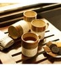 Exclusivelane Handcrafted Studio Pottery Brown & Off White Ceramic 420 ML Mugs - Set of 4