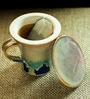 ExclusiveLane Handcrafted Studio Pottery Multicolored 280 ML Green Tea Filter Mug