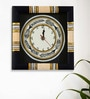Exclusivelane Black Wooden 10 x 10 Inch Wall Clock