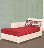 Eyre Lounger in Ivory & Red Colour