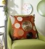 Eyda Brick Polyester 16 x 16 Inch New Ribbon Spot Cushion Cover