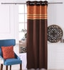 Brick Polyester 53 x 84 Inch Carry Black Out Door Curtains - Set of 2 by Eyda