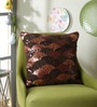 Brown Polyester 16 x 16 Inch New Glamour Cushion Cover by Eyda