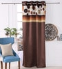 Choco Polyester 53 x 84 Inch Ribbon Spot Black Out Door Curtains - Set of 2 by Eyda