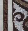 Chocolate Polyester Queen Size Bed Cover - Set of 5 by Eyda