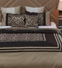 Golden Polyester Queen Size Bed Cover - Set of 5 by Eyda