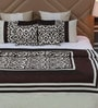Eyda Ivory Polyester Queen Size Bed Cover - Set of 5
