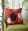 Eyda Red Polyester 16 x 16 Inch 3D Flower Cushion Cover