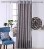 Silver Polyester 53 x 84 Inch Plain Taffeta Door Curtains - Set of 2 by Eyda