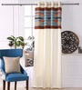 Teal Polyester 53 x 84 Inch New Pleat Black Out Door Curtains - Set of 2 by Eyda