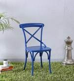 Fabian Metal Chair in Blue Color
