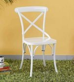 Fabian Metal Chair in White Color