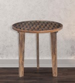Fabio End Table in Natural Finish