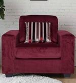 Fabio One Seater Sofa in Burgundy Colour