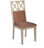 Falcon Dining Chair with Cushion in Pastle Brown Colour
